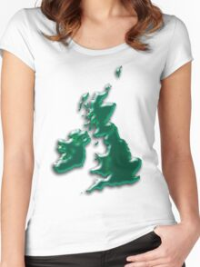 Great Britain  Map Women's Fitted Scoop T-Shirt
