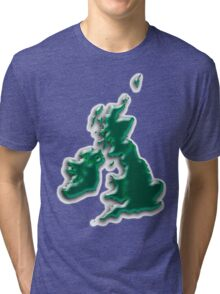 Great Britain  Map Tri-blend T-Shirt