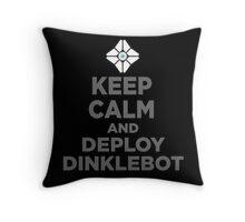 DEPLOY DINKLEBOT Throw Pillow