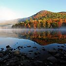 Reflection of Fall Color - Basin Pond by T.J. Martin