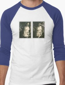 Lucy Laser-Eyes Men's Baseball ¾ T-Shirt