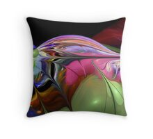 The fractal Water Droplet Throw Pillow