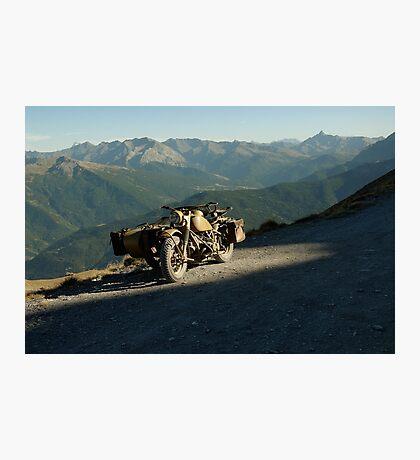 BMW R75 on top of Monte Jafferau Photographic Print
