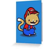 It's-a-me! Meow-rio! Greeting Card