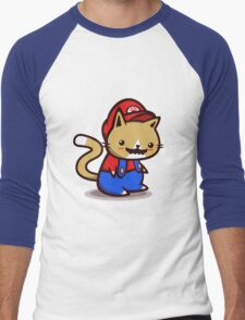 It's-a-me! Meow-rio! Men's Baseball ¾ T-Shirt