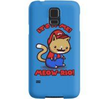 It's-a-me! Meow-rio! (Text ver.) Samsung Galaxy Case/Skin