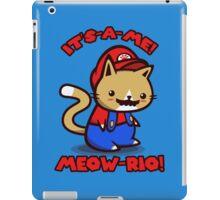 It's-a-me! Meow-rio! (Text ver.) iPad Case/Skin