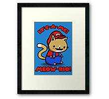 It's-a-me! Meow-rio! (Text ver.) Framed Print