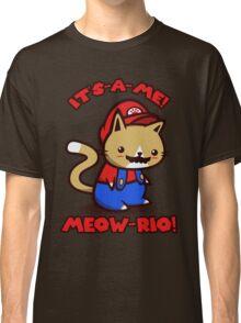 It's-a-me! Meow-rio! (Text ver.) Classic T-Shirt