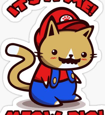 It's-a-me! Meow-rio! (Text ver.) Sticker