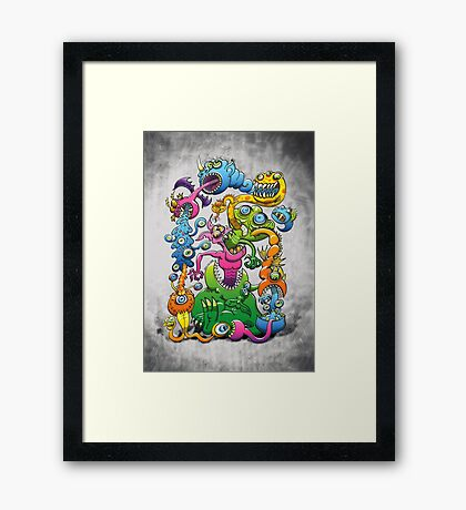 Messy and Monstrous Framed Print