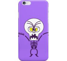 Scary Halloween Skeleton Emoticon iPhone Case/Skin