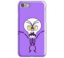 Scary Halloween Skeleton Emoticon iPhone Case/Skin