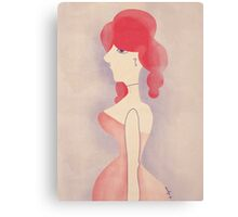 Saloon women Canvas Print