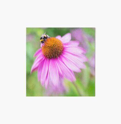 Bee and echinacea Art Board