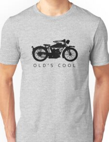 Old's Cool - Vintage Motorcycle Silhouette (Black) Unisex T-Shirt