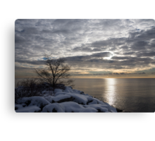 Lakeside Silver – Winter Morning Light Canvas Print