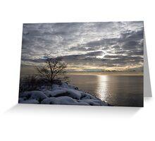 Lakeside Silver – Winter Morning Light Greeting Card