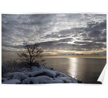 Lakeside Silver – Winter Morning Light Poster