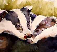 We Two Badger Cubs by PenelopeJane