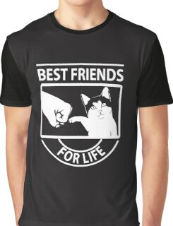 Cat best friends for life christmas shirt Graphic T-Shirt