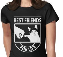 Cat best friends for life christmas shirt Womens Fitted T-Shirt