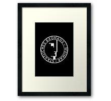 BAUHAUS WEIMAR (BLACK) Framed Print