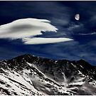 Gibbous Moon Over The Continental Divide by Wayne King