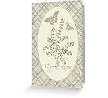 Butterflies and Thyme (natural) Greeting Card