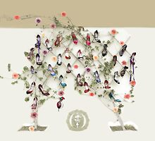 Shoes, roses and a geneology tree by Aikaterini  Koutsi Marouda