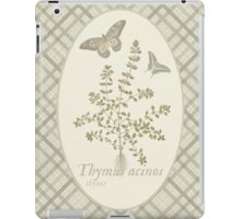 Butterflies and Thyme (natural) iPad Case/Skin