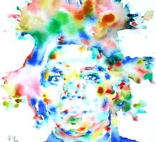 BASQUIAT JEAN MICHEL - watercolor portrait by lautir