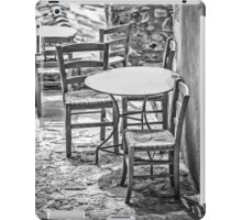 It's summertime, take your chairs and tables out in the sunshine iPad Case/Skin