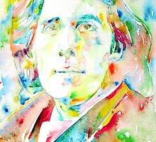 OSCAR WILDE watercolor portrait.1 by lautir