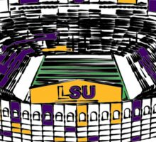 Louisiana State University Stadium Marker Sketch Sticker