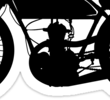 Old's Cool - Vintage Motorcycle Silhouette (Black) Sticker