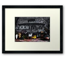 Fear and Loathing at the End of a Country Road Framed Print