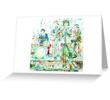 JIM MORRISON & THE DOORS LIVE CONCERT -watercolor portrait Greeting Card