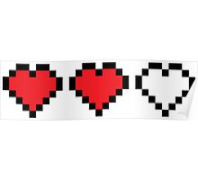 8 Bit Hearts Poster