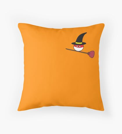 Polandball Halloween - Polandwitch Plumber Small Throw Pillow