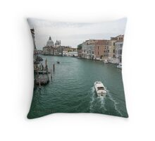 Scene on the Grand Canal, Venice Throw Pillow