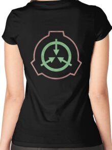 SCP symbol Women's Fitted Scoop T-Shirt