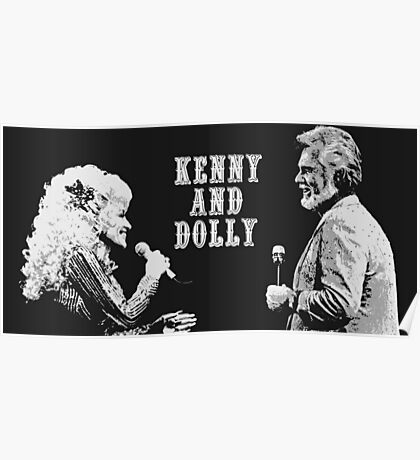 Dolly Parton and Kenny Rogers Poster
