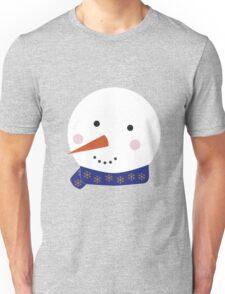 Snowman 2 blue Unisex T-Shirt
