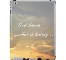 ..God knows what is hiding .. iPad Case/Skin
