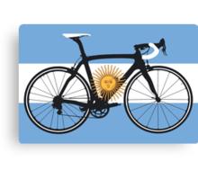 Bike Flag Argentina (Big - Highlight) Canvas Print