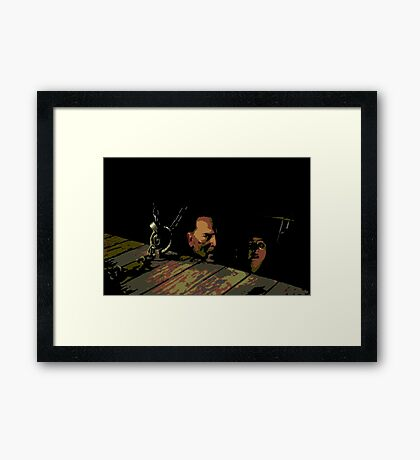 Ash vs The Evil Dead - ASH IN THE CELLAR Framed Print
