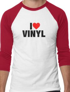 I Heart Vinyl Men's Baseball ¾ T-Shirt