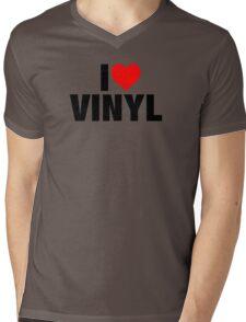 I Heart Vinyl Mens V-Neck T-Shirt