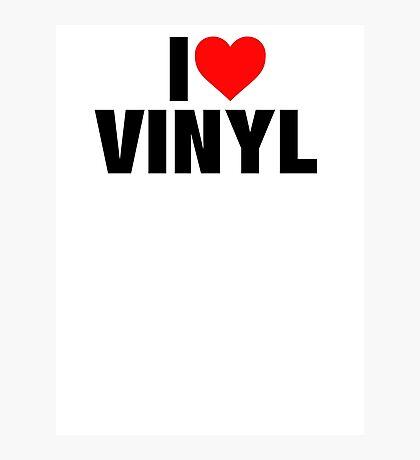 I Heart Vinyl Photographic Print
